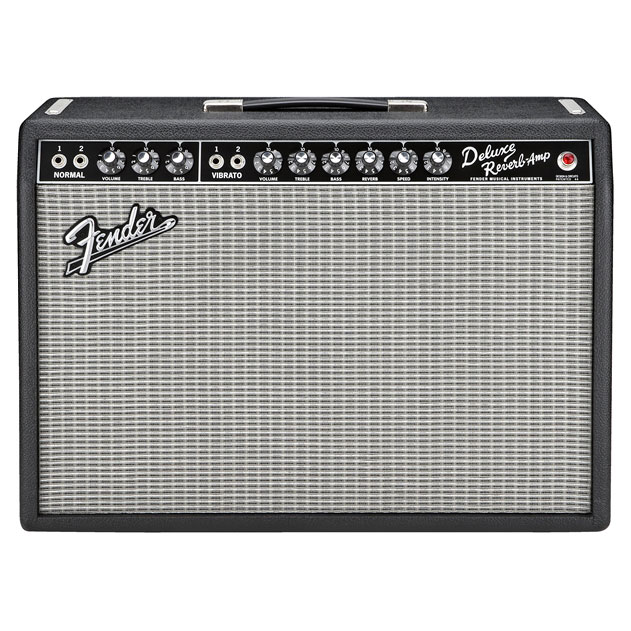 Fender 65 Deluxe Reverb Guitar Combo Amp - Black and Silver