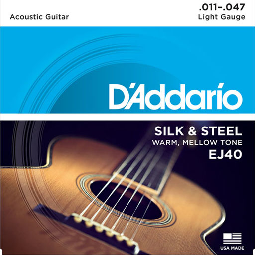 DAddario EJ40 Acoustic Slik and Steel Folk Strings 11-47 - Bananas At Large®