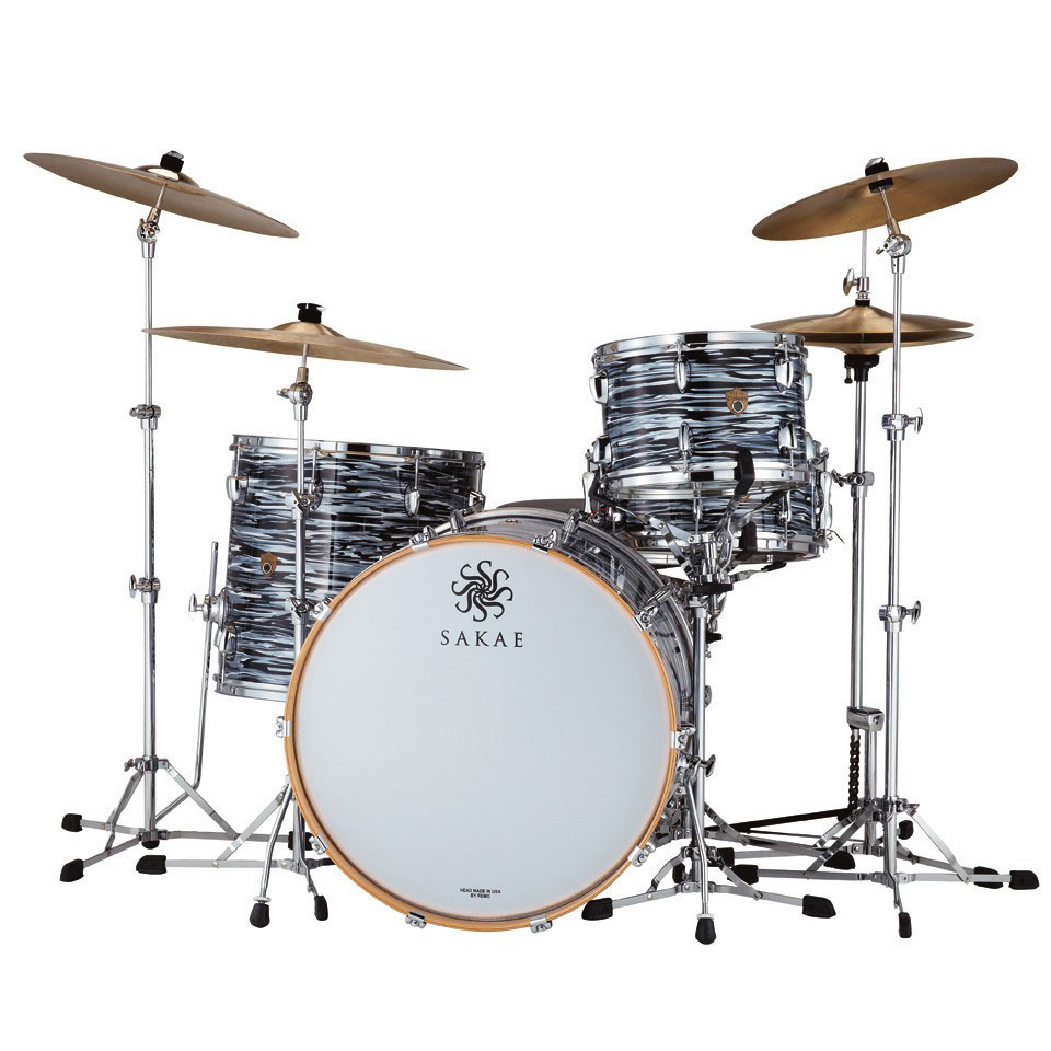 Sakae TRK2216 Trilogy Contemporary 22x16 Kick Drum - Black Oyster Pearl - Bananas at Large - 4