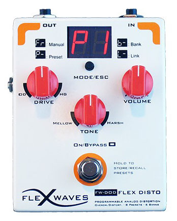 Flexwaves FLEX_DISTRO Programable Analog Distortion Guitar Pedal - Bananas at Large