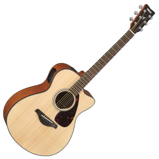 Yamaha FSX700SC Solid Top Concert Cutaway Acoustic-Electric Guitar - Bananas at Large