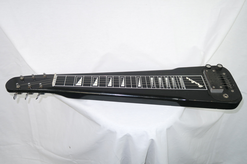 Airline 1961-64 Six String Lap Steel, Black with Grey Case (Jeffrey Cohen) (Pre-Owned) - Bananas at Large - 1