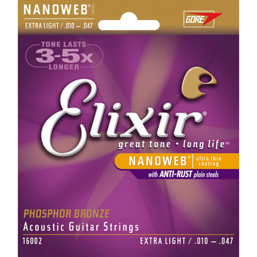 Elixir 16002 Acoustic Phosphor Bronze With Nanoweb Coating - Bananas At Large®