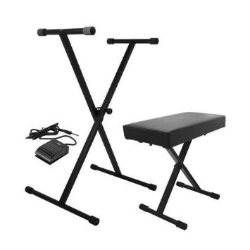 On-Stage KPK6520 Keyboard Stand/Bench Pack with Sustain Pedal - Bananas at Large