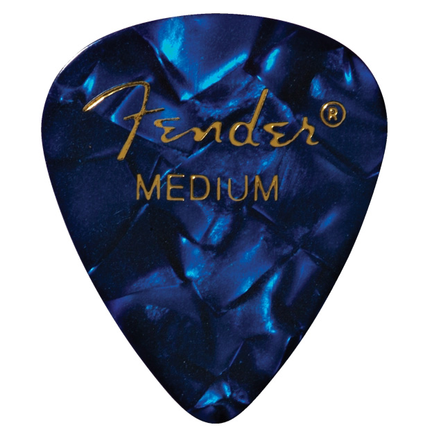 Fender 351 Shape Premium Medium Picks 12 Pack - Blue Moto - Bananas at Large