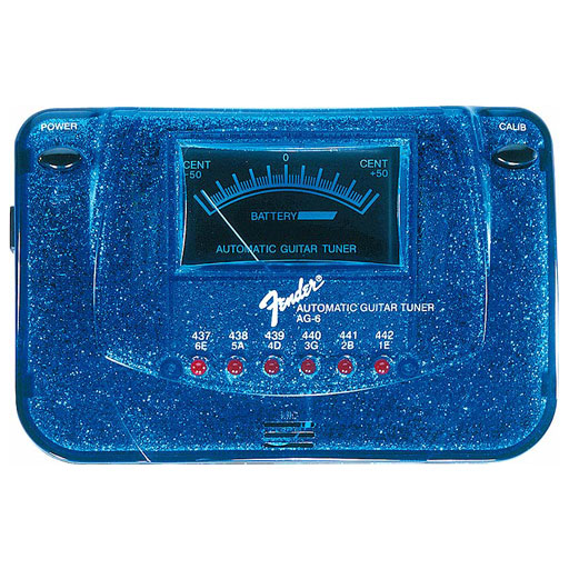 Fender AG-6 Sparkle-Tone Automatic Guitar Tuner, Blue Sparkle - Bananas At Large®