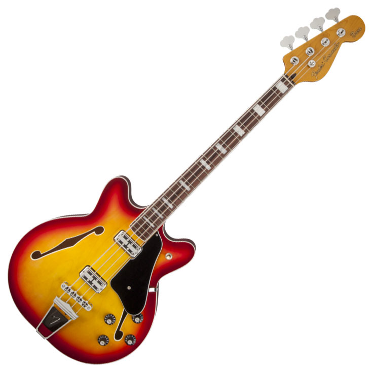 Fender Coronado Bass with Rosewood Fingerboard - Aged Cherry Burst - Bananas At Large®