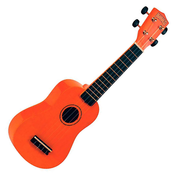 Hamano U-30BK Orange Soprano Ukulele with Bag - Bananas at Large