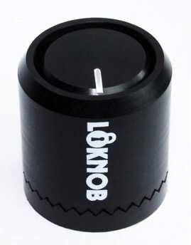 Loknob Lower Profile 3/4 in. All Black Loknob for 3mm Splined Pots - Bananas at Large