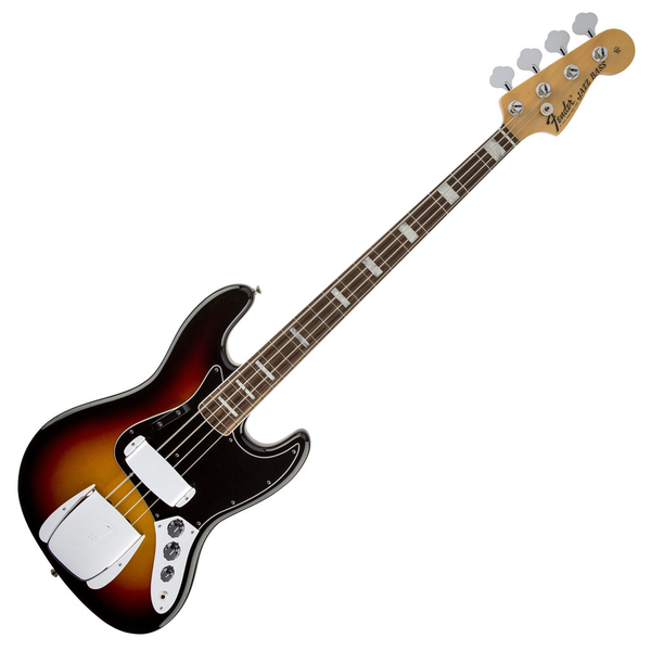 Fender American Vintage '74 Jazz Bass with Rosewood Fingerboard - 3 Color Sunburst with Case - Bananas At Large®
