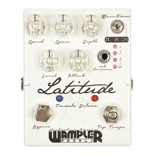 Wampler Latitude Tremolo Deluxe Pedal - Bananas at Large