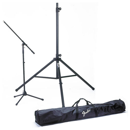 Fender ST-280 Passport Stand Kit (2 Speaker Stands and 2 Mic Stands with Carrying Bag) - Bananas at Large