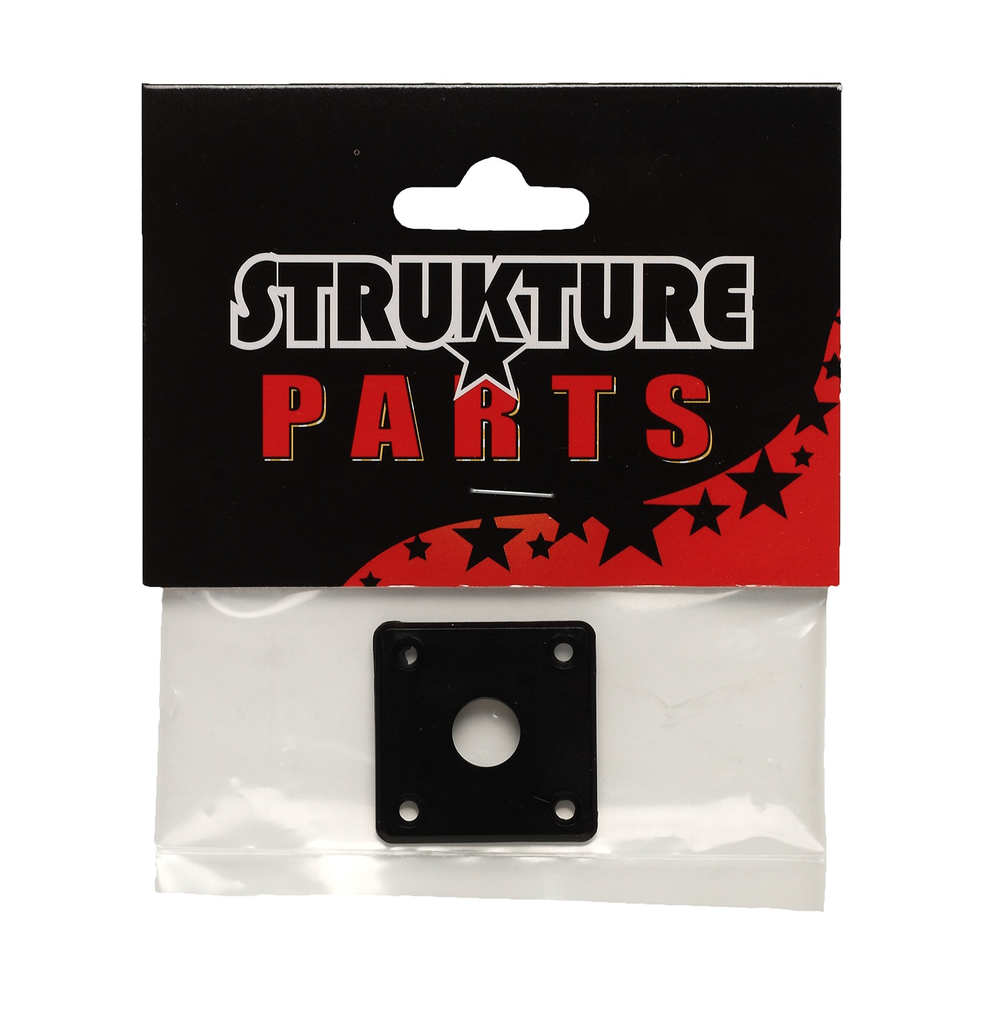 Strukture Plastic Jackplate For Les Paul - Black - Bananas at Large