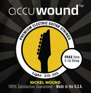 Accuwound USA Electric Guitar String Set with Free High E String Medium 10-46 - Bananas At Large®