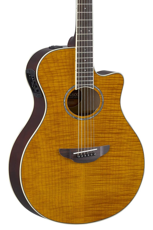 Yamaha APX600 Flamed Maple Acoustic Electric Guitar - Flamed Maple Amber