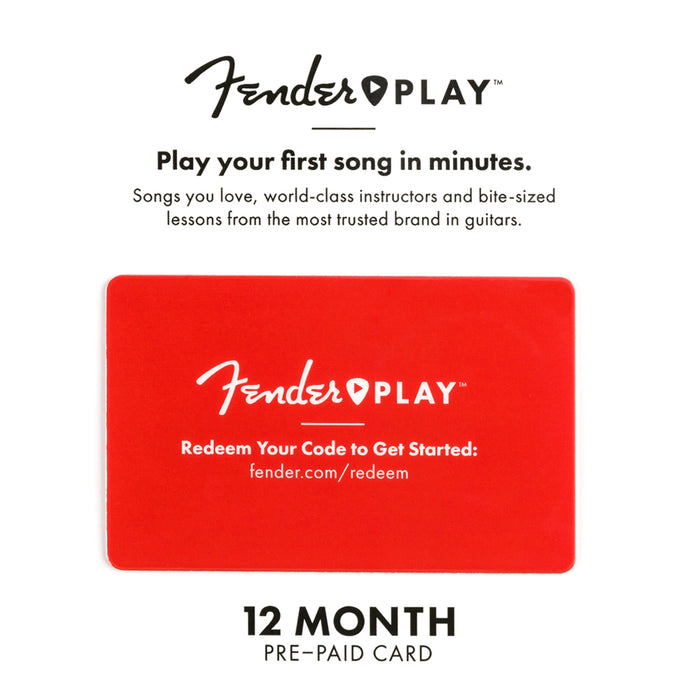Fender Play 12 Month Subscription Gift Card