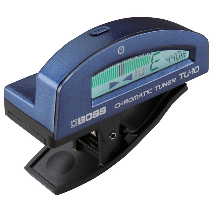Boss TU-10-BU Clip-On Chromatic Tuner Blue - Bananas at Large