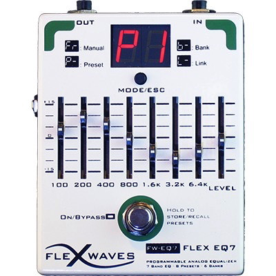 Flexwaves Flex EQ7 Programmable Analog 7 Band Equalizer Guitar Pedal - Bananas At Large®
