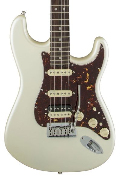 Fender American Elite Stratocaster HSS Shawbucker with Rosewood Fingerboard - Olympic Pearl