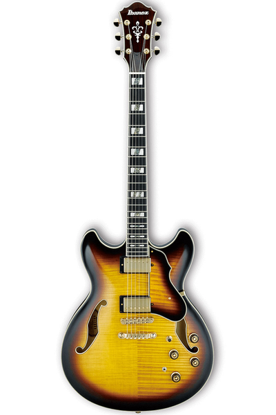 Ibanez AS153 Artcore Hollowbody Electric Guitar with Case - Antique Yellow Sunburst - Bananas at Large