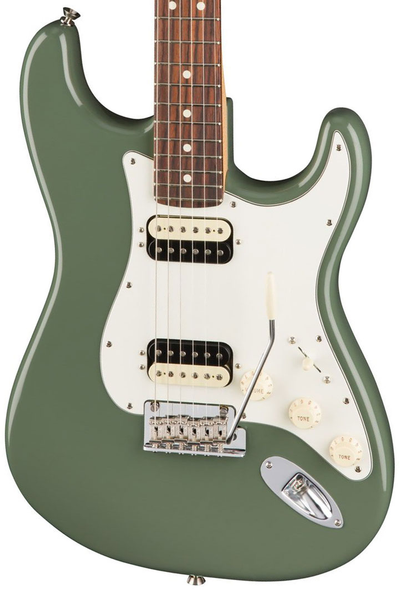 Fender American Pro Stratocaster HH Shawbucker, Rosewood Fingerboard - Antique Olive - Bananas at Large - 1