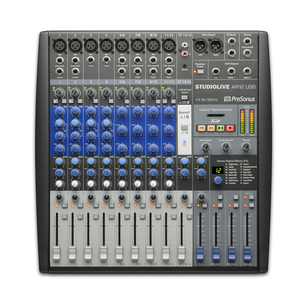 Presonus StudioLive AR12 14-Channel Hybrid Digital/Analog Performance Mixer - Bananas at Large - 1