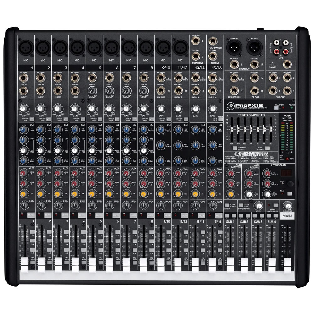 Mackie ProFX16 ProFX 16-channel Professional Effects Mixer with USB - Bananas at Large