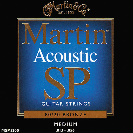 Martin MSP3200 SP 80 20 Bronze Medium Acoustic Guitar Strings - Bananas at Large