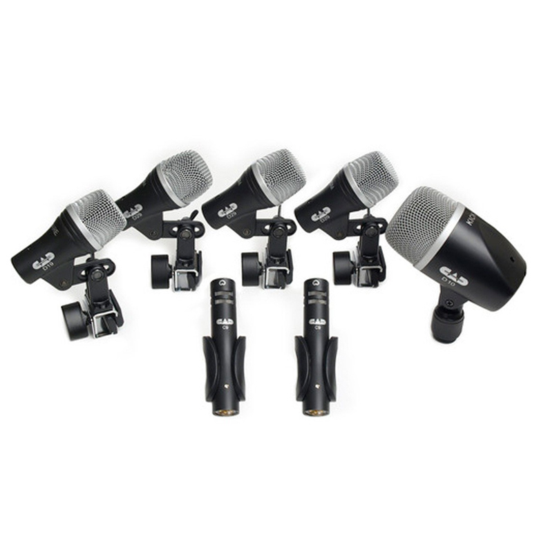 CAD Stage 7, 7-Piece Drum Microphone Pack - Three D29, Two C9, One D19, One D10 - Bananas At Large®