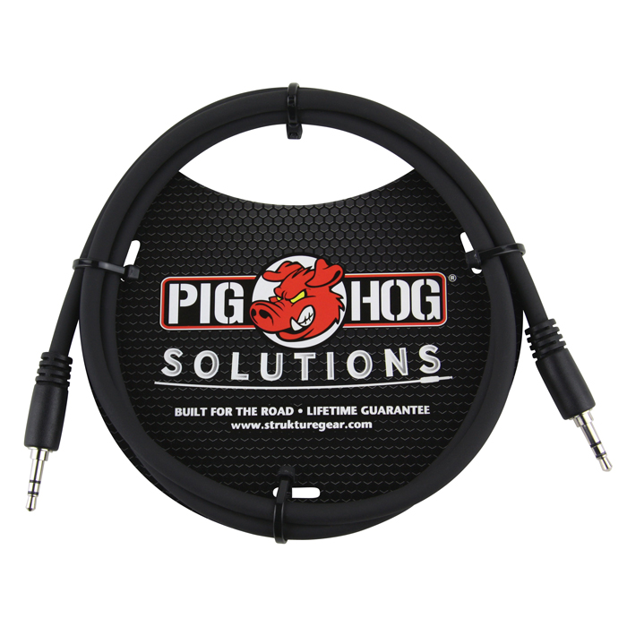 Pig Hog PX-T3503 Solutions 3.5mm TRS to 3.5mm TRS, 3ft - Bananas at Large
