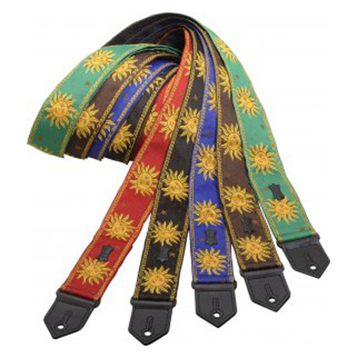 Levys M8SUN Jacquard Weave Guitar Strap with Sun Design - Bananas at Large