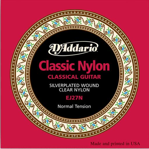DAddario EJ27N Student Nylon Normal Tension Classical Guitar Strings - Bananas At Large®