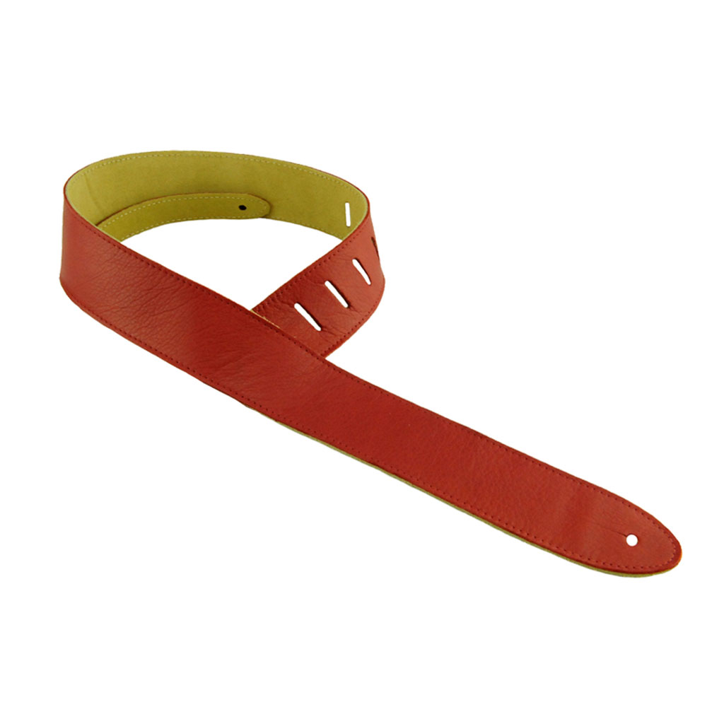 Henry Heller HCAP2 2 in. Capri Leather Guitar Strap - Red - Bananas At Large®