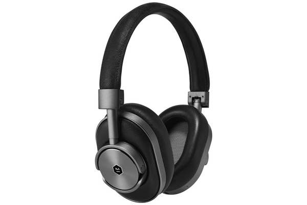 Master & Dynamic MW60 Wireless Over Ear Headphones - Gunmetal and Black Leather