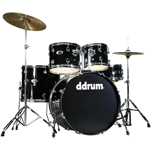 D2 Drum Set 5pc, Midnight Black - Bananas at Large