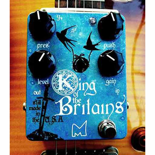 Menatone King of the Britains British Overdrive/ Distortion Pedal - Bananas at Large