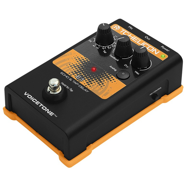 TC Helicon VoiceTone E1 Echo and Delay Vocal Pedal - Bananas at Large