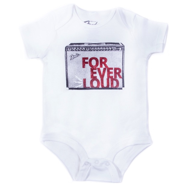 Fender Forever Loud Onesie, White, 12 Months - Bananas At Large®
