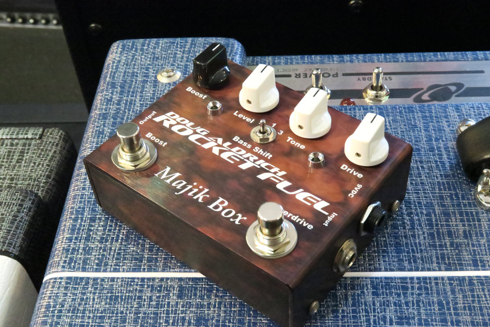 Majik Box Doug Aldrich Rocket Fuel Ltd 5th Anniversary Edition Pedal RFLTD (Pre-Owned) - Bananas at Large - 2
