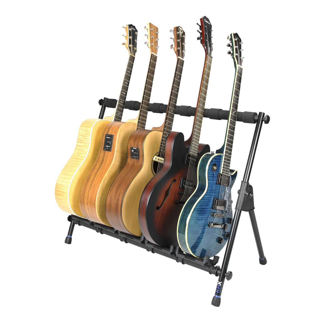 Reunion Blues RBXS-M5G Multi-Guitar Stand (Holds 5) - Bananas at Large - 2