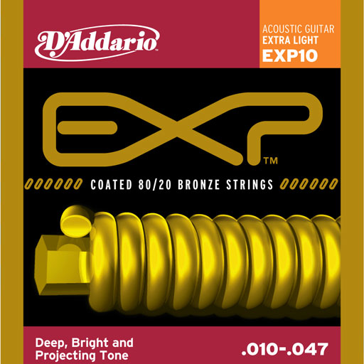 DAddario EXP10 Coated 80 20 Bronze Extra Light 10-47 - Bananas At Large®