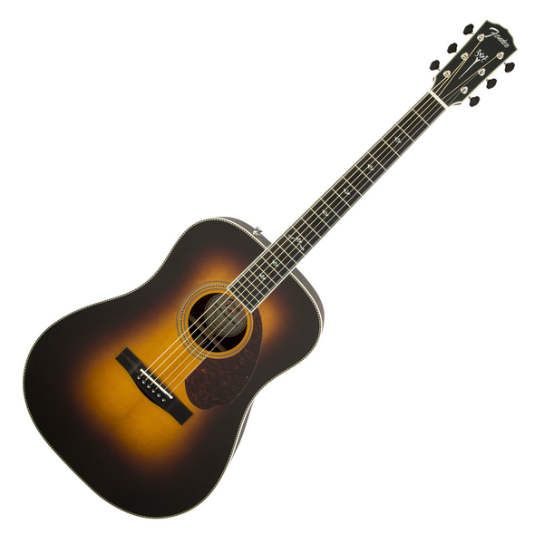 Fender Paramount PM-1 Deluxe Dreadnought Acoustic Guitar - Vintage Sunburst - Bananas at Large - 1