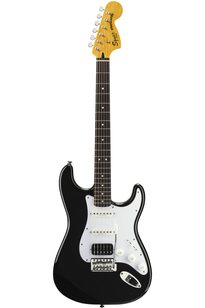Squier Vintage Modified Stratocaster HSS with Rosewood Fingerboard - Black - Bananas at Large - 3