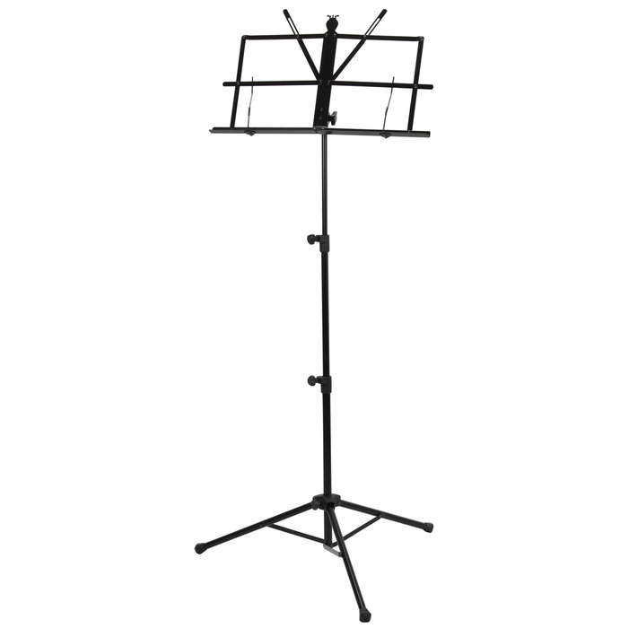 Strukture SMS1X Deluxe 3-Part Adjustable Music Stand with Bag - Black