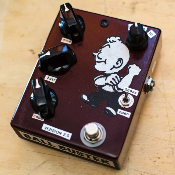 Dirty Boy Ball Buster Hand Made True Bypass Booster Drive Pedal - Bananas At Large®
