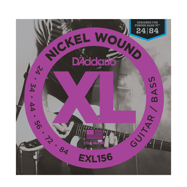 D'addario EXL156 Nickel Wound Fender Bass VI Strings - Bananas At Large®