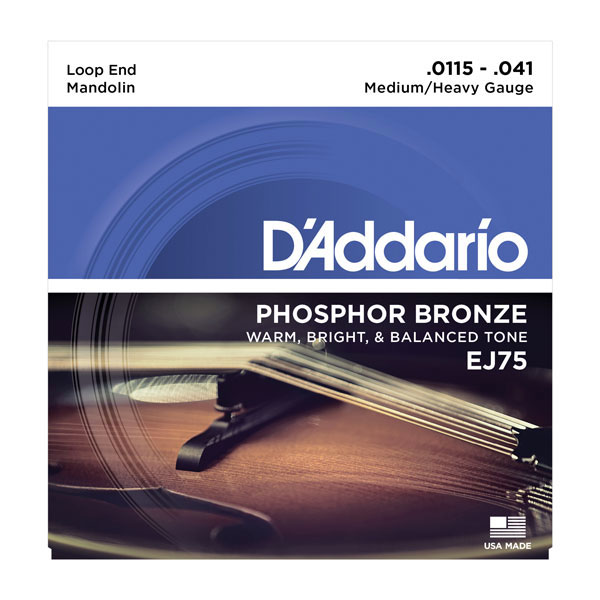 D'Addario EJ75 Phosphor Bronze Medium/Heavy Mandolin Strings 11.5-41 - Bananas At Large®