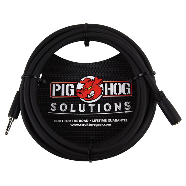 Pig Hog PHX35-10 10ft Headphone Extension Cable, 3.5mm - Bananas at Large