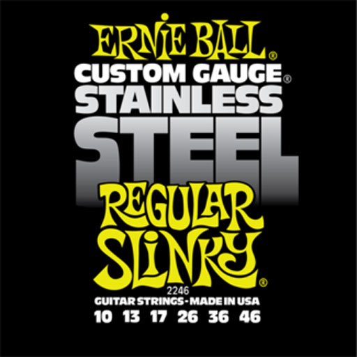 Ernie Ball P02246 Regular Slinky Stainless Steel Wound Electric Guitar Strings 10-46 - Bananas At Large®