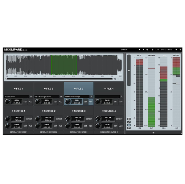 MELDA 11-30214 MCompare Reference tool for mixing & mastering [Download] - Bananas at Large